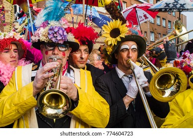 DUNKIRK, FRANCE – february 25, 2004 : Music of the Carnival is the base of it. It is better to know them especially the sing to Jean Bart the corsair hero of the city.
