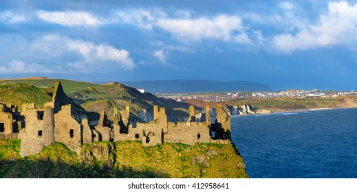 Dunluce Castle, Co. Antrim, Northern Ireland.