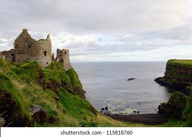 Dunluce Castle on the Antrim coastline in Northern Ireland