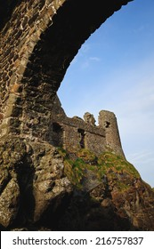 Dunluce castle on the northern coast of County Antrim, Northern Ireland.