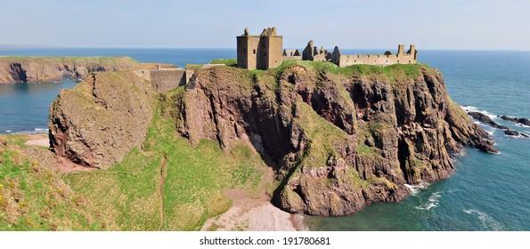 Dunnottar Castle in Aberdeenshire, Scotland