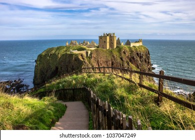 Dunnottar Castle. An amazing scottish landscape. Stonehaven, Aberdeenshire, Scotland, United Kingdom. October 2014.