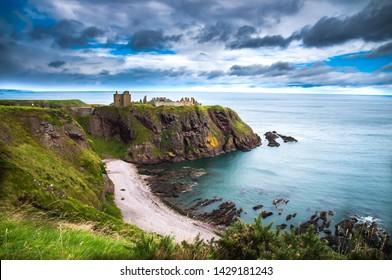 Dunnottar Castle in Scotland. Near to Aberdeen