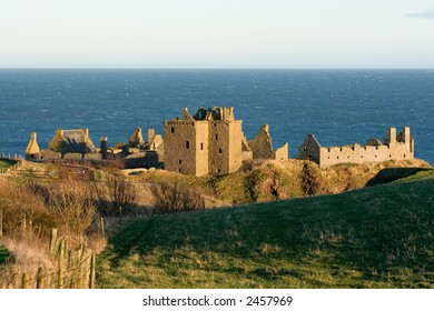 Dunnottar Castle, Stonehaven, North East Scotland, at Evening