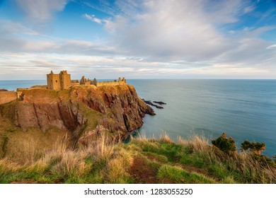 Dunnottar Castle at Stonehaven on the Aberdeenshire coast in Scotland