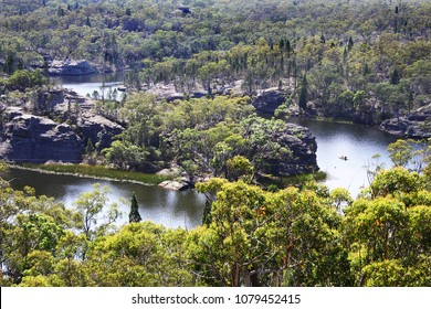 Dunns Swamp, a waterway on Cudgegong River in NSW, Australia