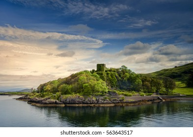 Dunollie Castle in sunny weather, Oban, Scotland