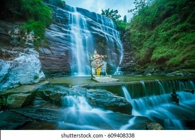 Dunsinane waterfall at Pundaluoya, Sri Lanka