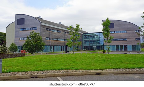DUNSTAFFNAGE, SCOTLAND -16 JULY 2017- View of the European Marine Science Park, a complex of buildings located in Dunstaffnage on the West coast of Scotland near Oban.