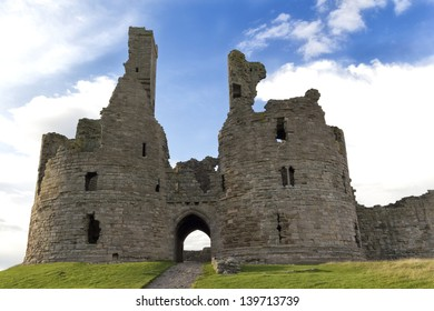 Dunstanburgh Castle in Northumberland,England, between the villages of Craster and Embleton.