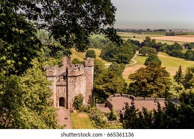 Dunster Castle stately home - somerset england uk