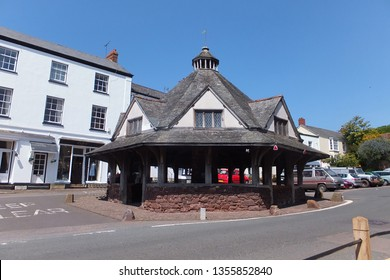 Dunster, Somerset, England. 5th June 2013. The Yarn Market in Dunster. It was built in the early 17th century and has been designated as a Grade I listed building and scheduled monument.