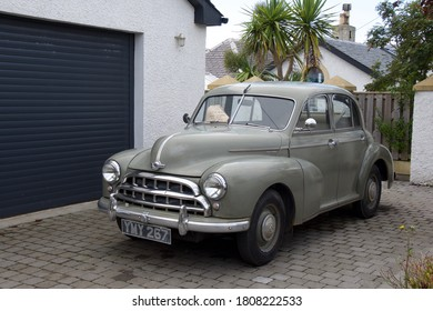 Dunure, Ayrshire / Scotland - September 3rd 2020: 1952 Morris Oxford car