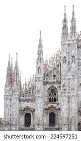 Duomo cathedral facade in Milan, Italy