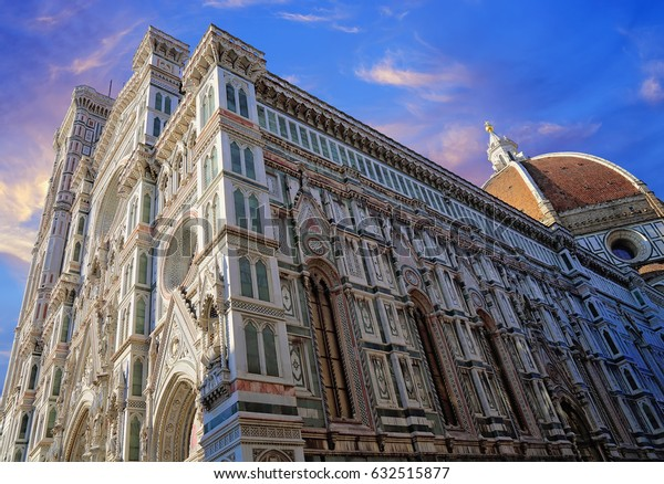 Duomo Cathedral in Florence at sunset