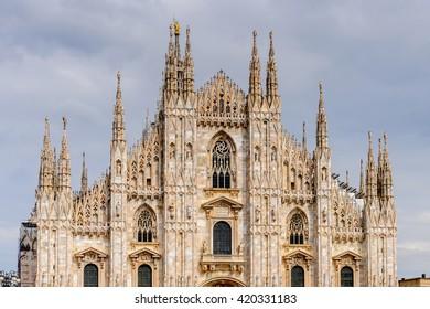 Duomo di Milano (Dome of Milan), Milan, Italy. Metropolitan Cathedral-Basilica of the Nativity of Saint Mary