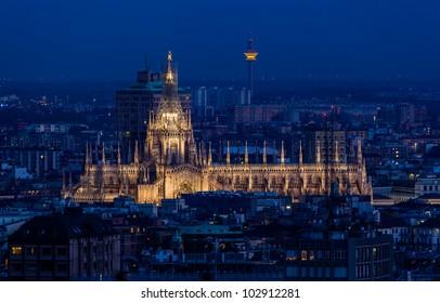 Duomo di Milano at dusk. Milan, Italy.