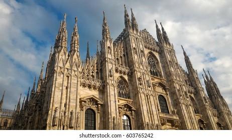 Duomo di Milano (meaning Milan Cathedral) gothic church in Milan, Italy