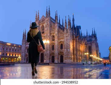 Duomo di Milano (Milan Cathedral) and Piazza del Duomo in the Morning, Milan, Italy