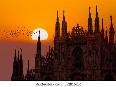 Duomo di Milano (Milan Cathedral) and Piazza del Duomo in Milan