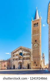 Duomo place with Cathedral of  Assumption of the Blessed Virgin Mary in Parma, Italy