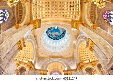 Duomo Santa Maria Del Fiore and Campanile. Florence. Inside Interior. Assumption University, Thailand