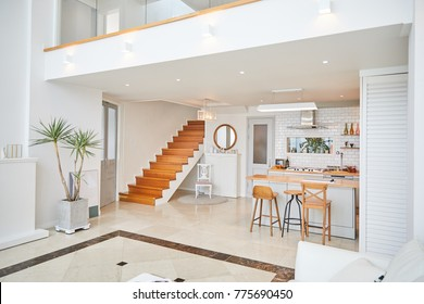 Duplex house of Livingroom and kitchen