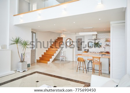Duplex House Livingroom Kitchen Stock Photo Edit Now 775690450