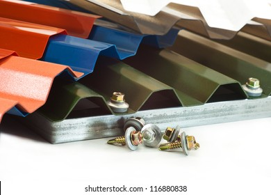 Durable plastic for roof covering different colors