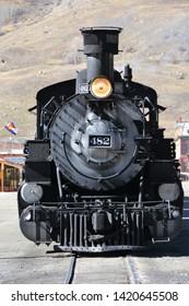 Durango, CO, USA. May 4, 2014. The Durango & Silverton Narrow Gauge Railroad is a 3 ft narrow-gauge heritage railroad that operates 45.2 miles of track between Durango and Silverton, Colorado.