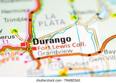 Durango Map Images Stock Photos Vectors Shutterstock