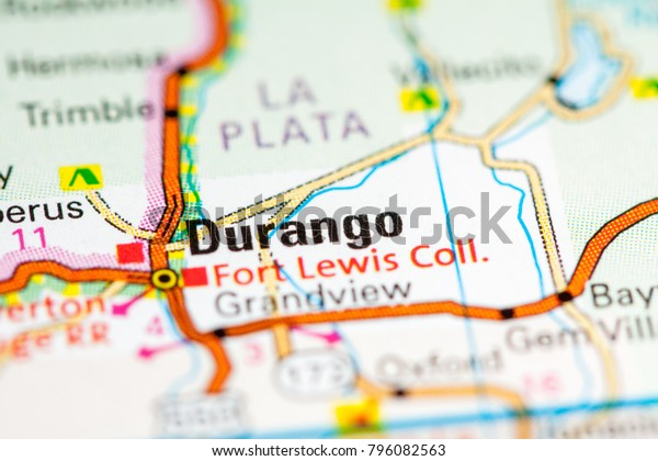 Durango Colorado Usa On Map Stock Photo (Edit Now) 796082563 on