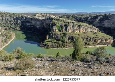 Duraton Canyon Natural Park in Segovia province, Spain