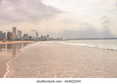 Durban beach on a cloudy day