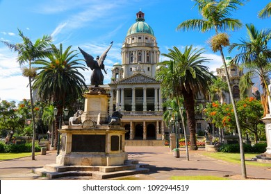 Durban City Hall with the War Memorial, KwaZulu-Natal province, South Africa