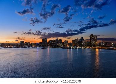 Durban sea port in night time