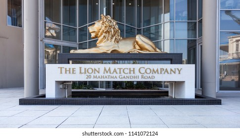 Durban, South Africa - 1 March, 2017: Entrance to the lion match company building.