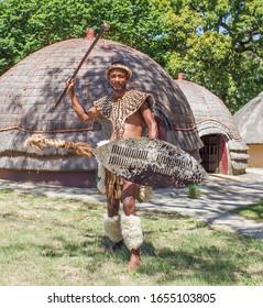 DURBAN- SOUTH AFRICA- JANUARY 15, 2020: A zulu chef in Kwazulu Natal