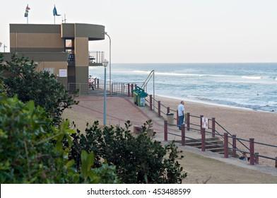 DURBAN, SOUTH AFRICA - JULY 11, 2016: The Bronze Beach lifesaver's station on the Umhlanga Rocks beach