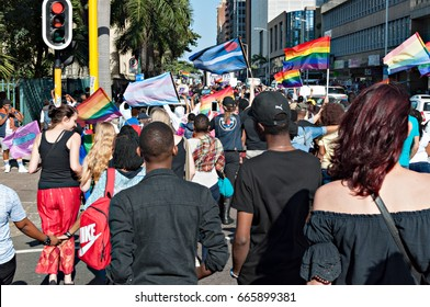 DURBAN, SOUTH AFRICA - JUNE 24, 2017: Gay Pride celebration and parade in Durban City Center