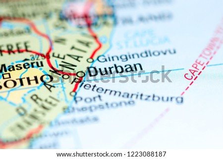 Durban South Africa Africa Map Stock Edit Now