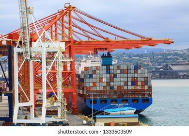 Durban/South Africa - January 29 2019: Container Terminal