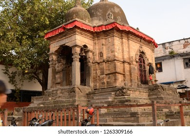 Durbar Square, Katmandu, Nepal-Oct 09 2015: A beautiful temple in the Durbar Square of KAtmandu Nepal.