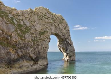 Durdle Door natural arch on Dorset coast