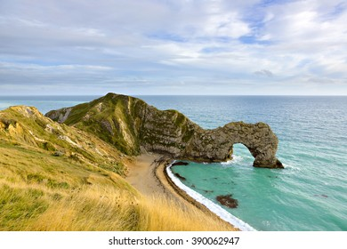 Durdle Door on the Jurassic Coast of Dorset in the south of England, UK.