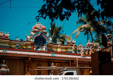 Durga Ancient Indian architecture at Temple in Kerala India