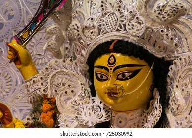 durga face traditional at kolkata
