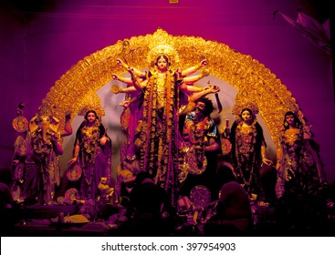 Durga Idol - Durga puja Navrata,  West Bengal, India