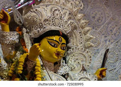 durga portrait traditional at kolkata