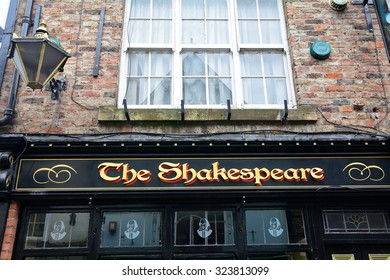 DURHAM - JUNE 14 : The Shakespear Pub at 14 June 2015 in Durham, England. This pub is said to be one of the ghost haunted place in England.